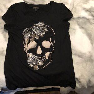 Express Sequin Black Medium T-Shirt